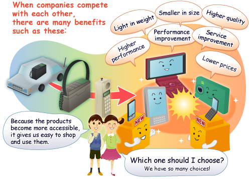 How can competition be good for retailers?